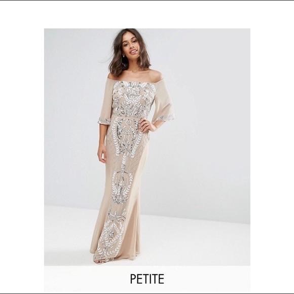 f538b61b4d Maya Dresses | Petite Embellished Bandeau Dress | Poshmark